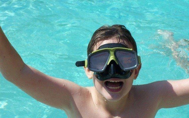 Exercising as a family swim
