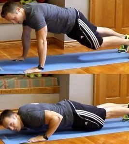 A simple pushup.