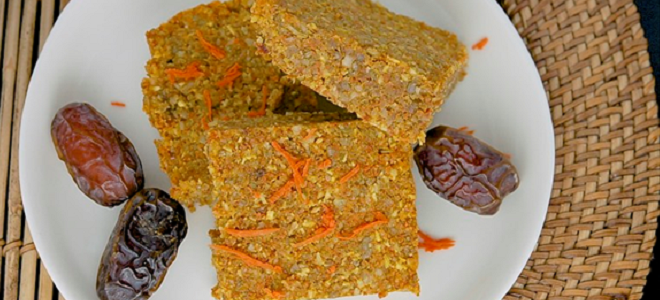 Carrot Walnut Snack Bars Featured