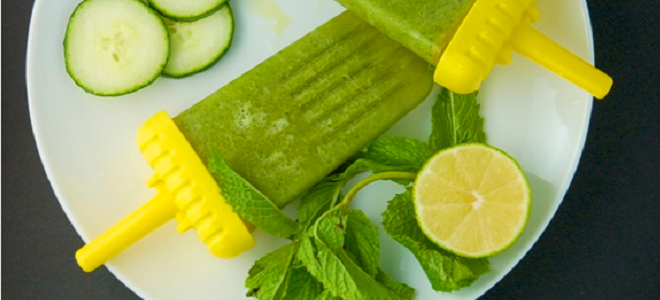 Cucumber Mint Popsicles Featured
