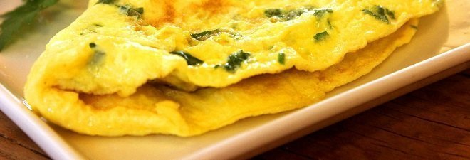 Recipes for athletes omelete