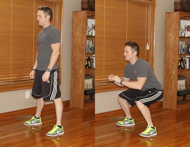 Workout Challenge Bodyweight Squat