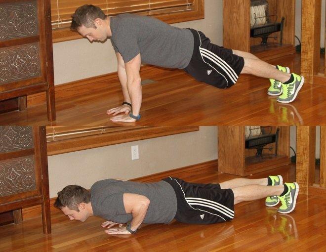 Workout Challenge Diamond Pushup