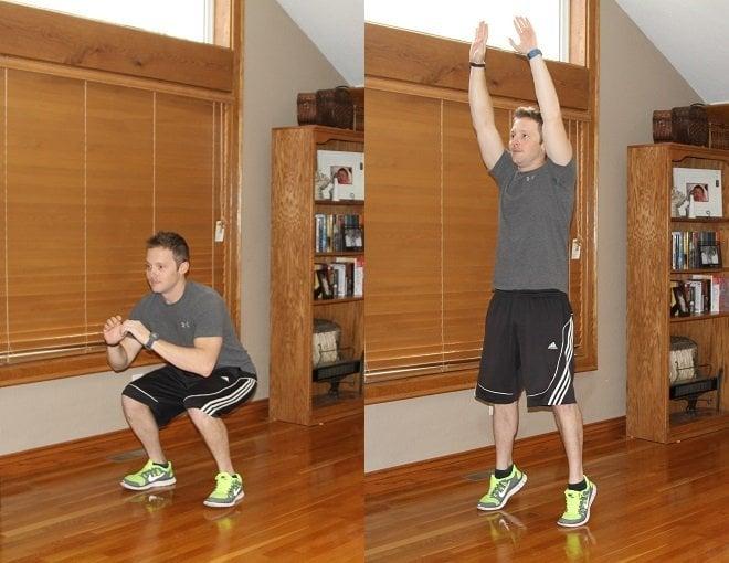 Workout Challenge Squat Jumps