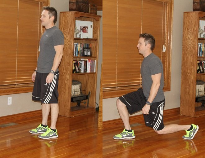 Workout Challenge Walking Lunges
