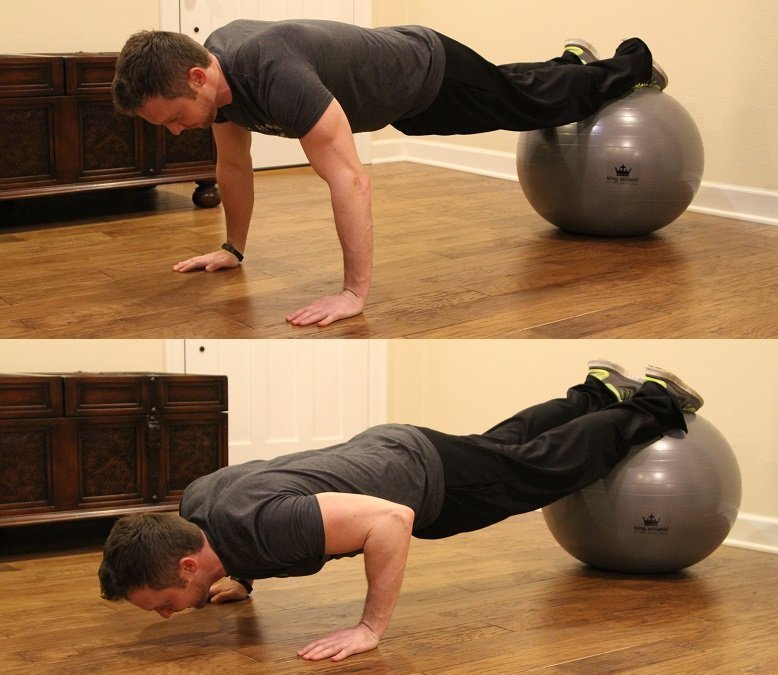 King Athletic Fitness Ball Review Decline Pushup
