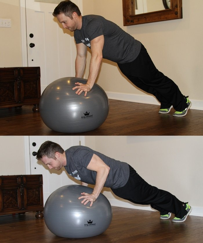 Quick Home Workout Ball Push Up King Athletic