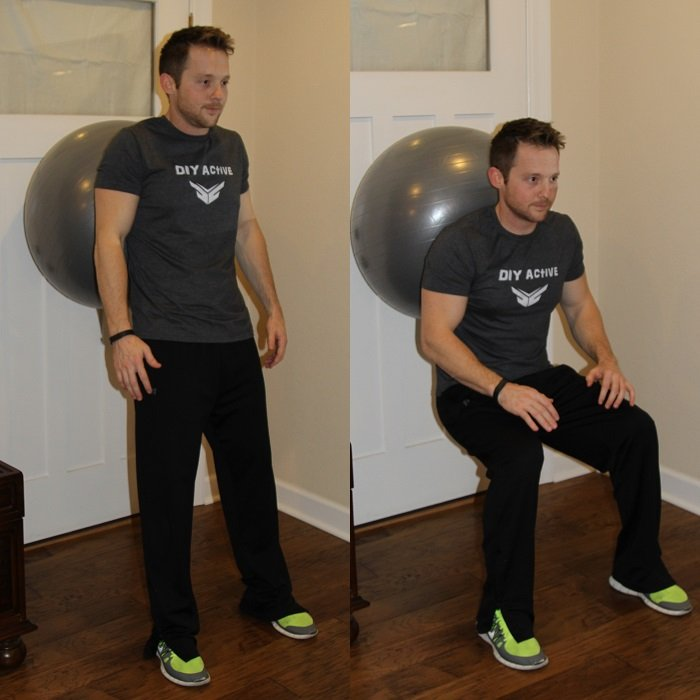 Quick Home Workout Ball Squat King Athletic