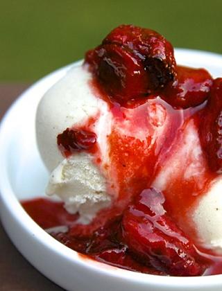 Roasted Sherry Strawberries