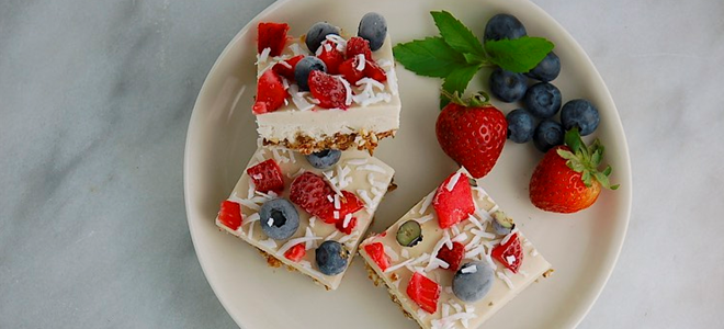 Recipe: Red, White, & Blue Cheesecakes