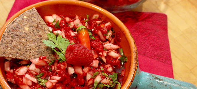 Red Raspberry Salsa Featured