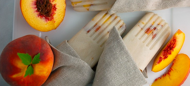 Recipe: Peach Popsicle
