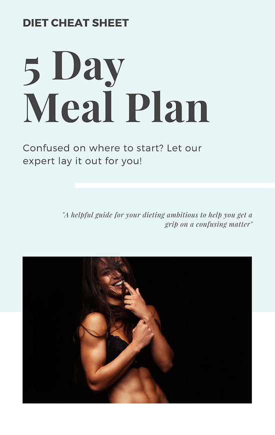 Diet Cheat Sheet doable weight loss advice meal plan
