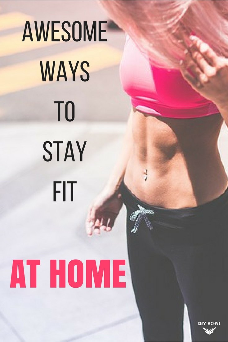 Been eating a lot lately? No time to hit the gym and get sweaty? Here are awesome tips for you to stay fit in the comfort of your home.