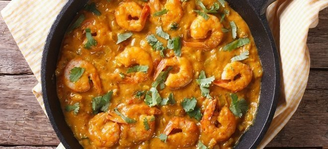 Recipe: Shrimp in Curry Sauce with Rice