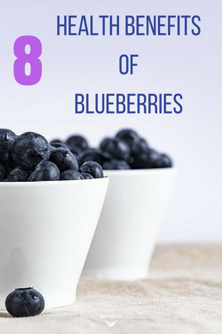 8 health benefits to blueberries