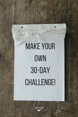 challenge, motivation, diy, accountability