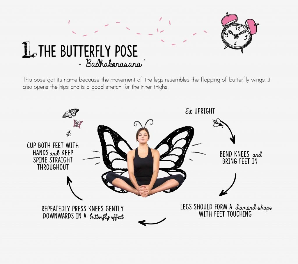 bedtime yoga, relaxation, butterfly
