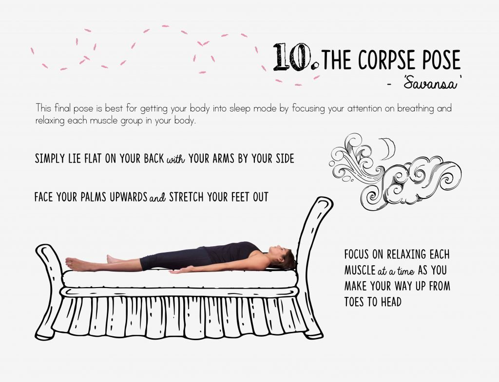 bedtime yoga, relaxation, corpse pose