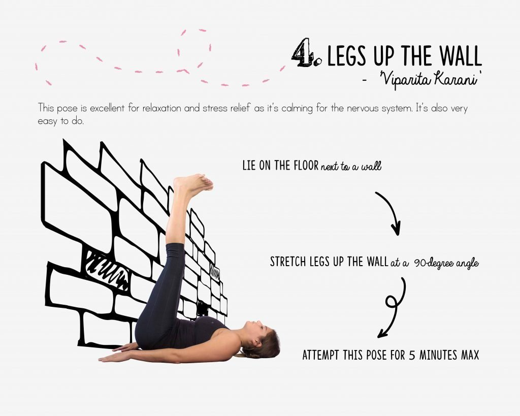 bedtime yoga, relaxation, legs up the wall