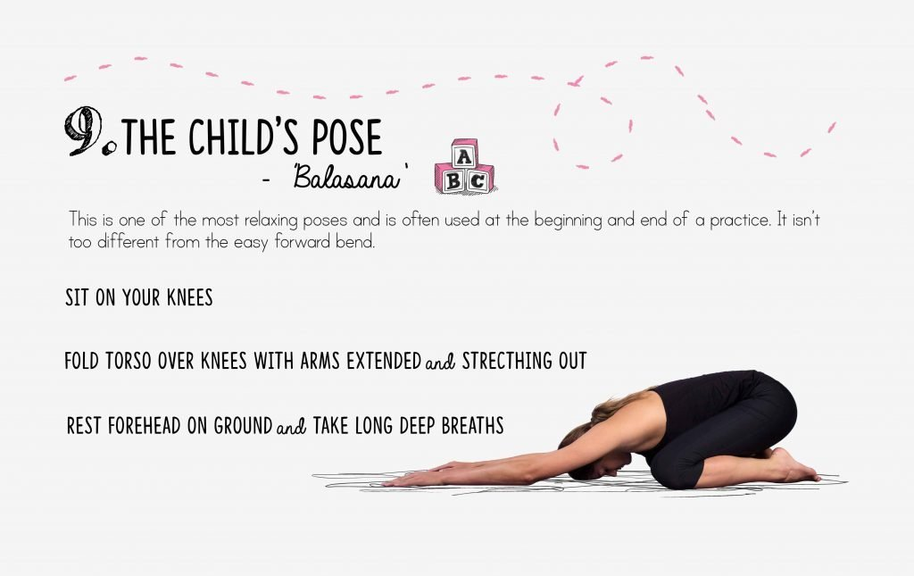 bedtime yoga, relaxation, child's pose