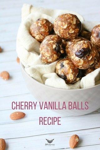 cherry vanilla balls, recipe, nutrition, food