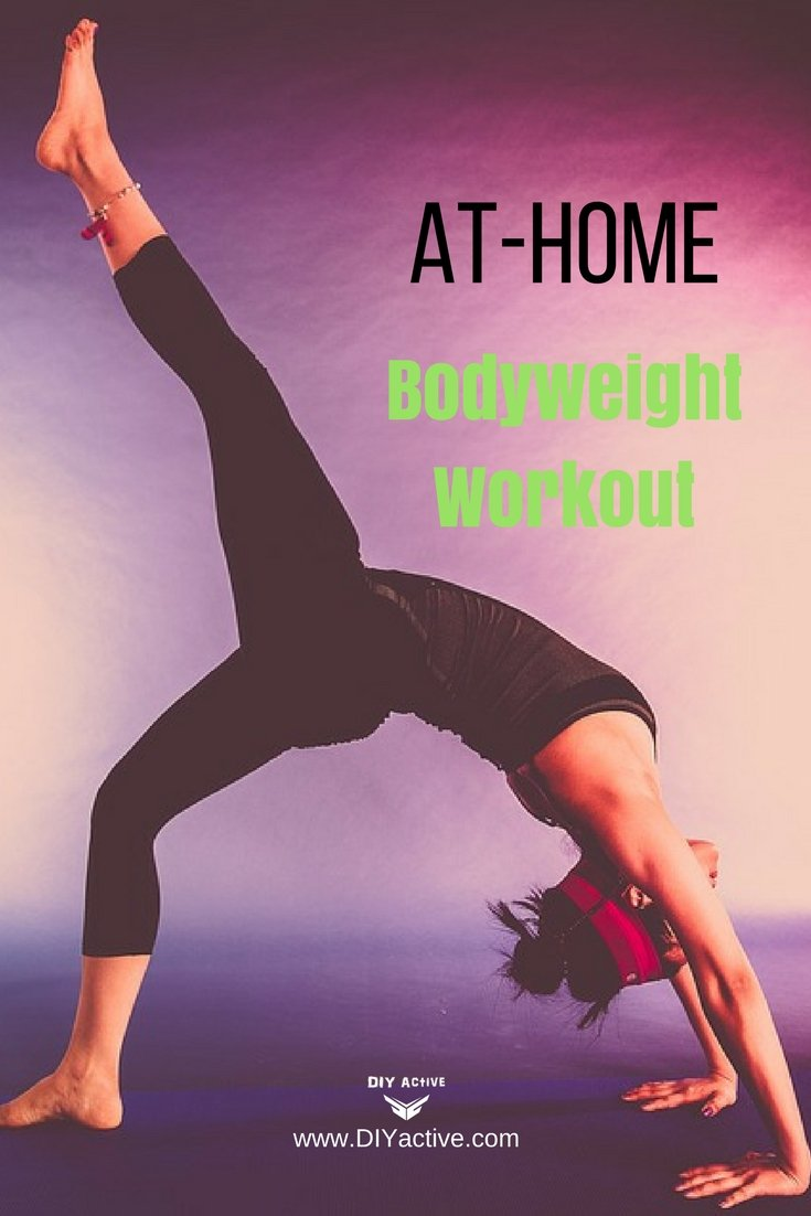 At-home bodyweight workout for any level exerciser!