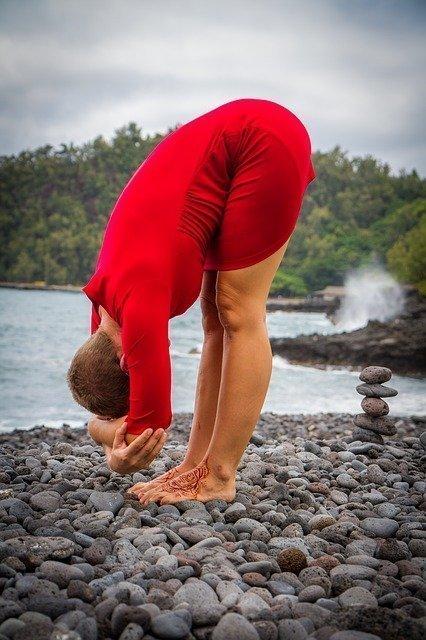 forward fold, desk yoga