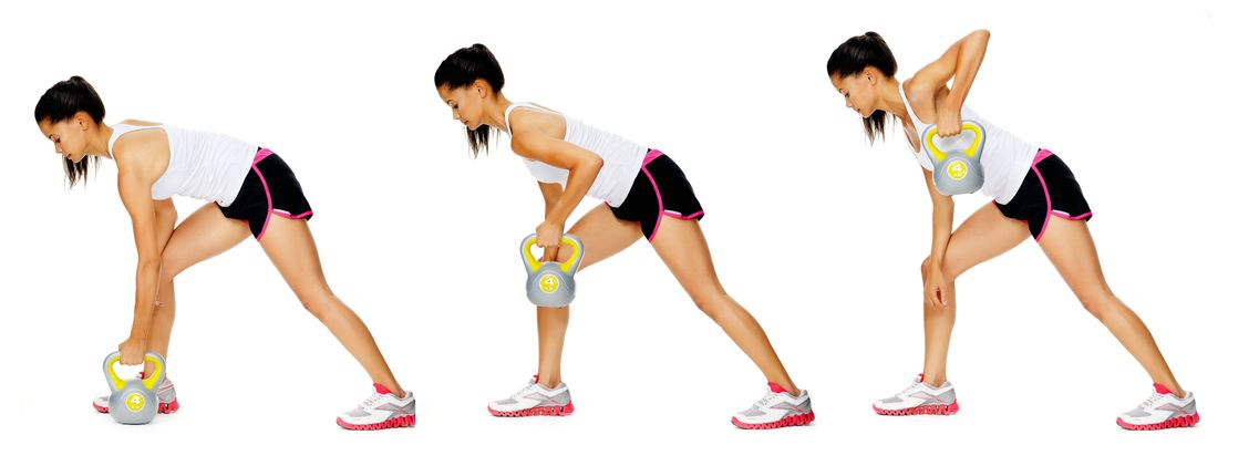 Kettlebell Workouts for Beginners Single Arm Bent Row