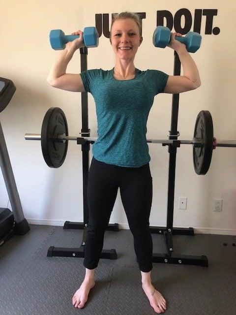 Critical Lifting Techniques When Exercising at Home Shoulder Press