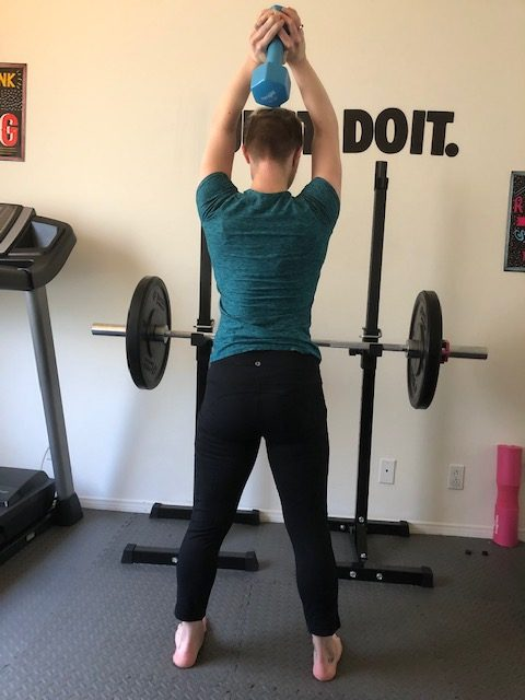 Critical Lifting Techniques When Exercising at Home Tricep Extension Finish