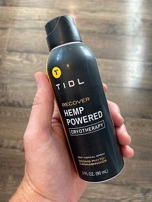 TIDL Review Hemp-Powered Cryotherapy Topical Spray