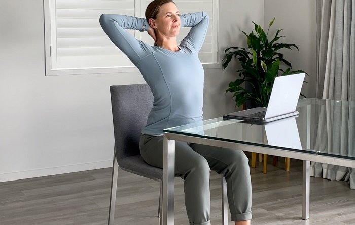 Simple Seated Stretches for Upper Back and Shoulder Relief DIY 03a